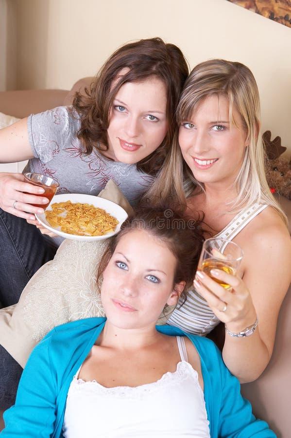 threesome arkivbilder