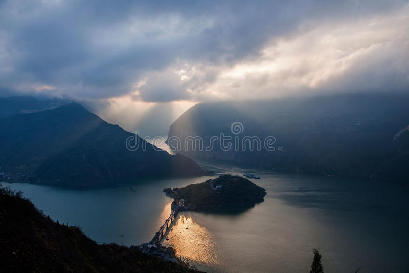 Threet Gorges av Yangtzet River arkivfoto