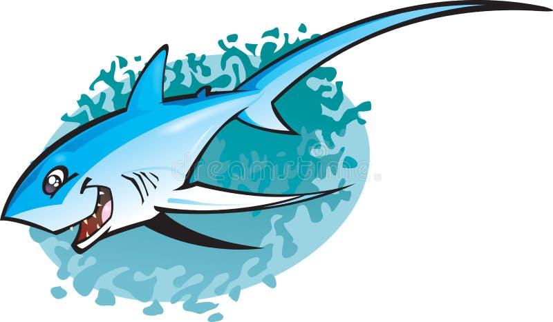 thresha акулы шаржа иллюстрация вектора