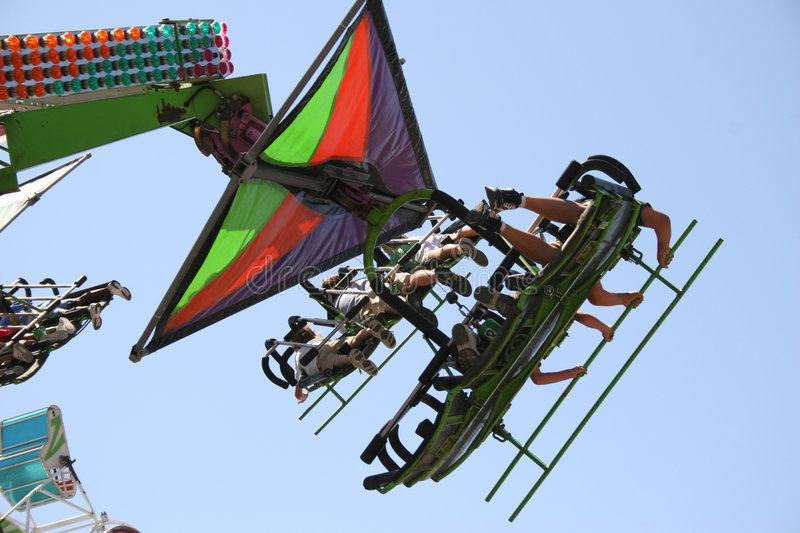 Download Thrill Ride stock image. Image of amusement, coaster, flying - 1000905