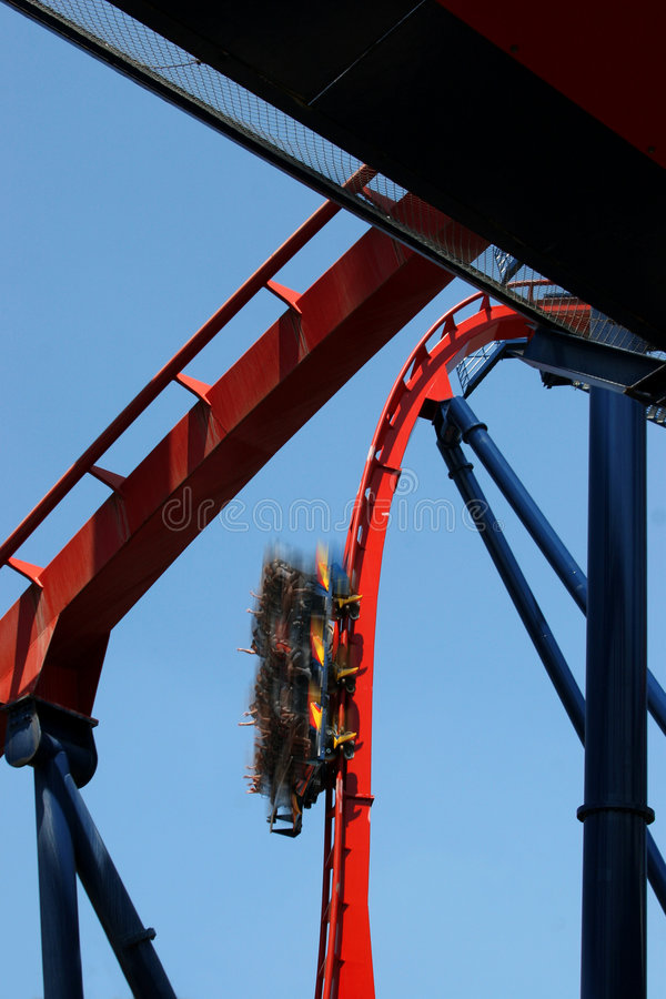 Download Thrill ride stock image. Image of rail, fear, high, rollercoaster - 1590103