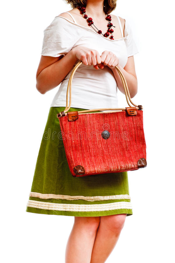 Free Thrilled Woman With A Bag Royalty Free Stock Images - 13117319