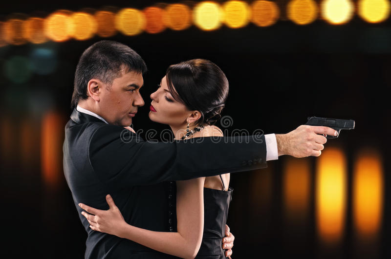 Download Thriller couple stock photo. Image of girl, romantic - 25426960