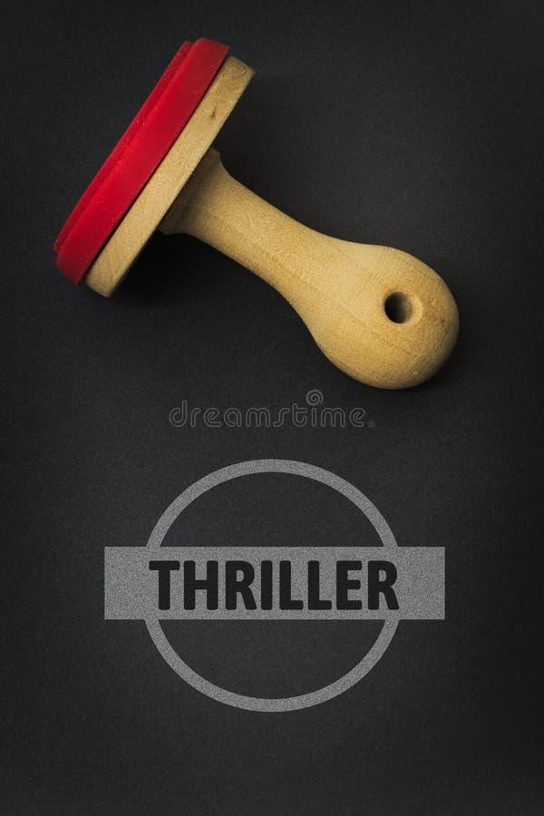 THRILLER - image avec des mots liés au FILM de sujet, mot, image, illustration images libres de droits