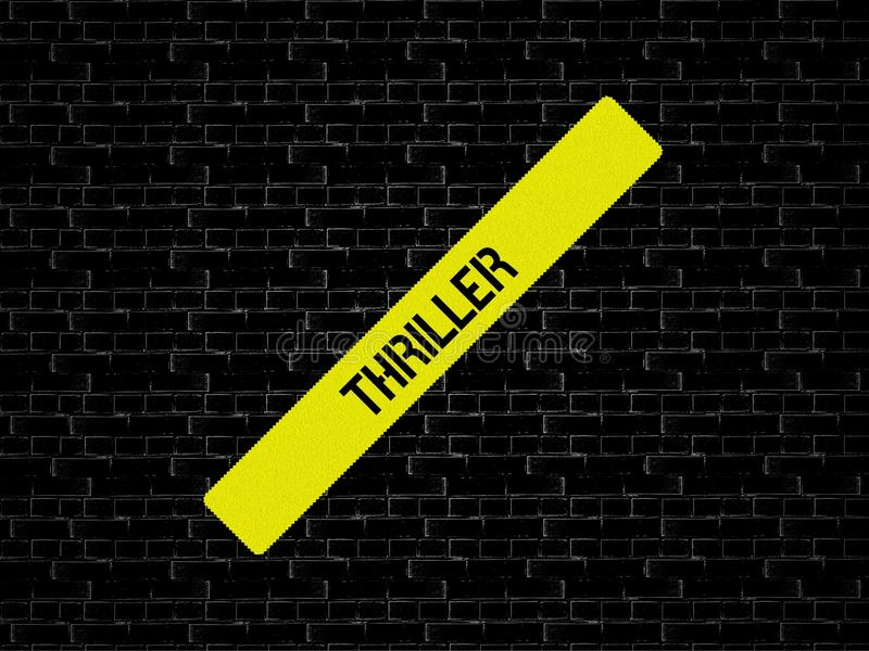 THRILLER - image avec des mots liés au FILM de sujet, mot, image, illustration image libre de droits