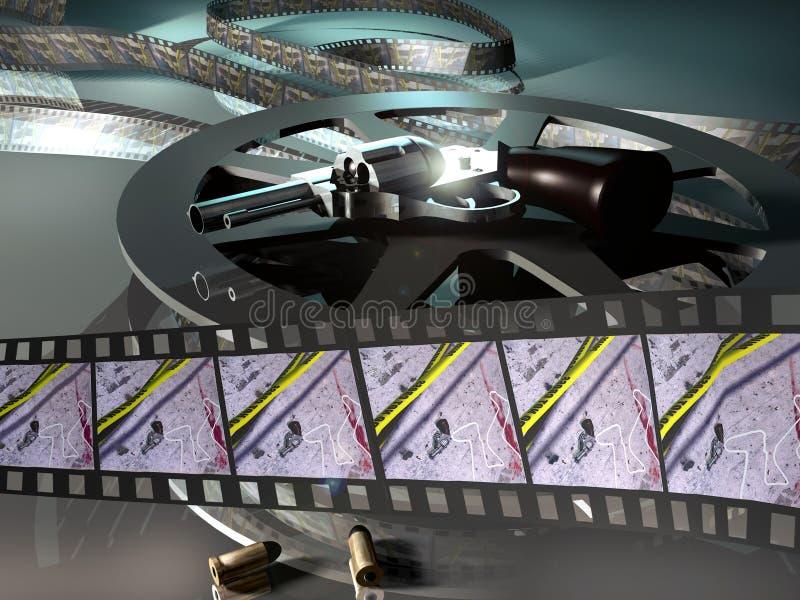 Thriller movie royalty free illustration