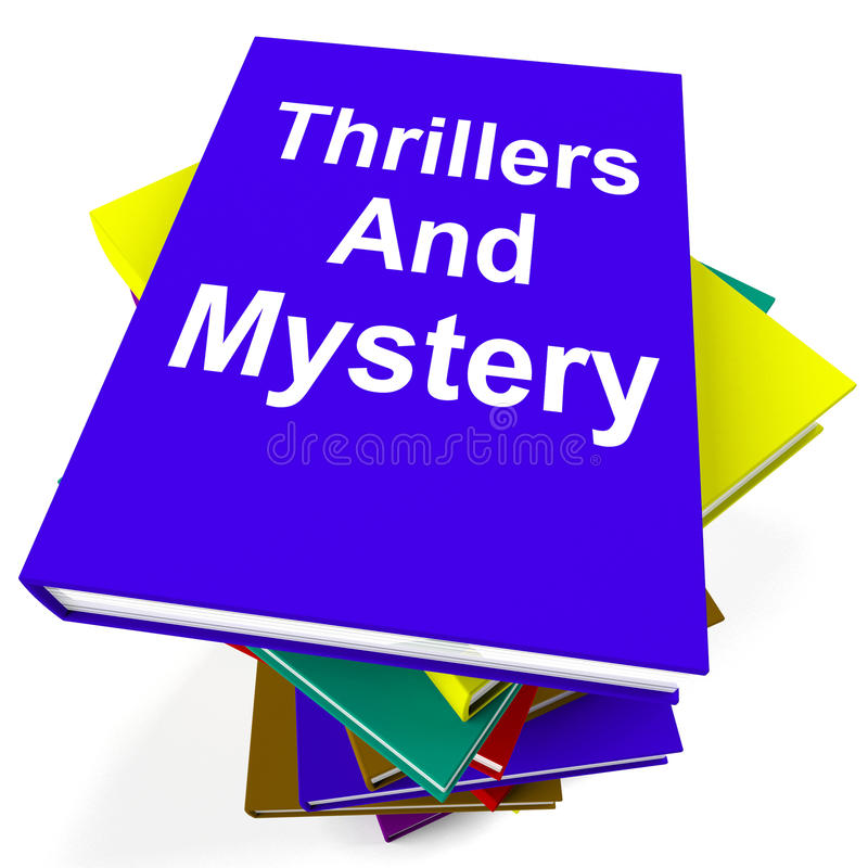 Thrillers and Mystery Book Stack Shows Genre. Thrillers and Mystery Book Stack Showing Genre Fiction Books royalty free illustration
