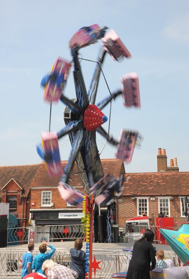 thrills fairground стоковое изображение
