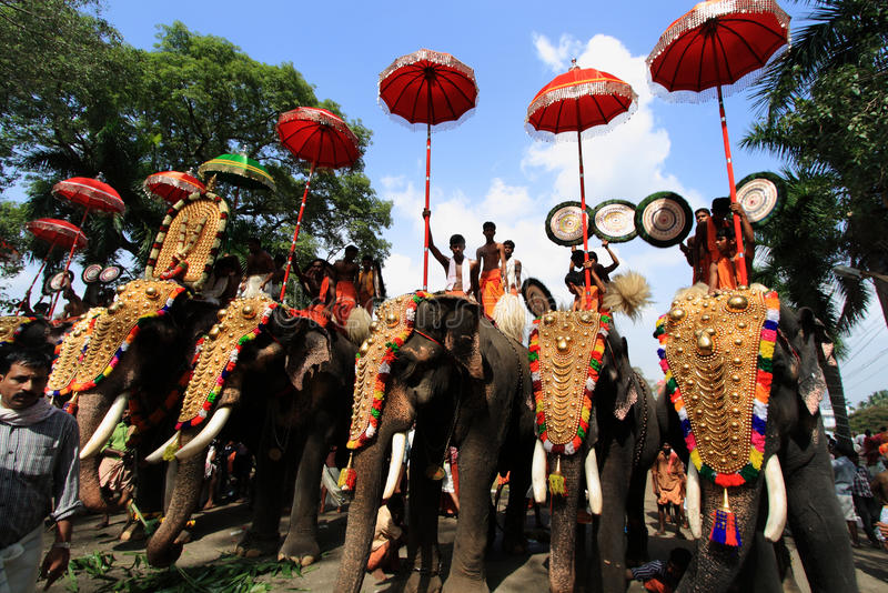 Thrissur Pooram images stock