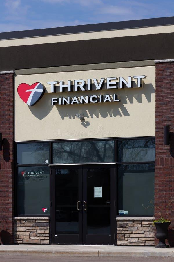 Thrivent Financial Exterior and Trademark Logo stock photos