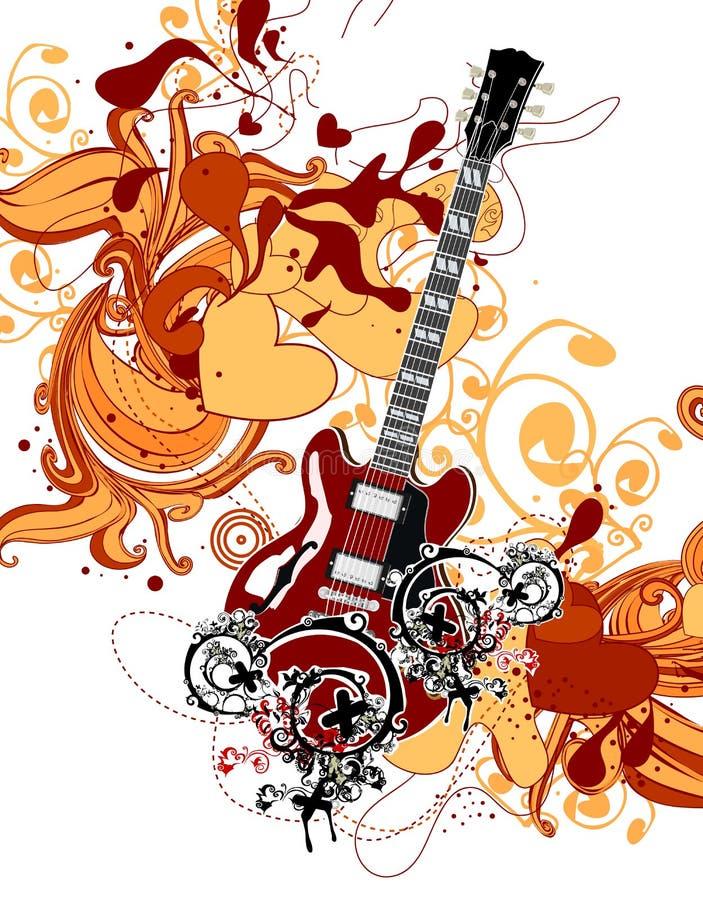 Thrme da música ilustração royalty free