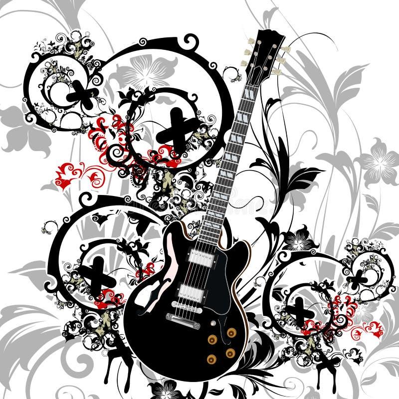 Thrme da música ilustração stock