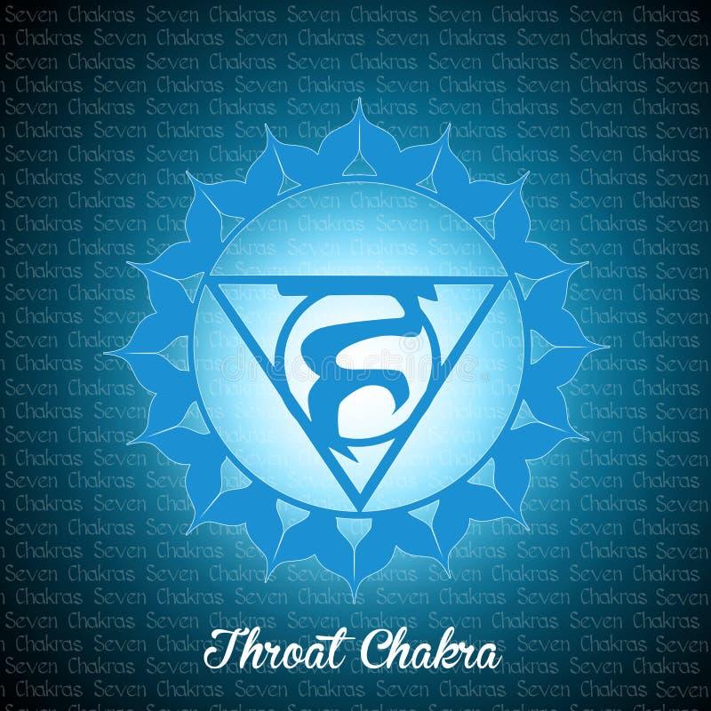 Throat Chakra. Illustration of throat chakra symbol vector illustration