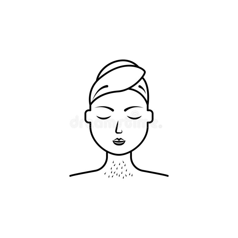 Throat epilation, women icon. Element of health care for mobile concept and web apps icon. Thin line icon for website design and. Development, app development stock illustration