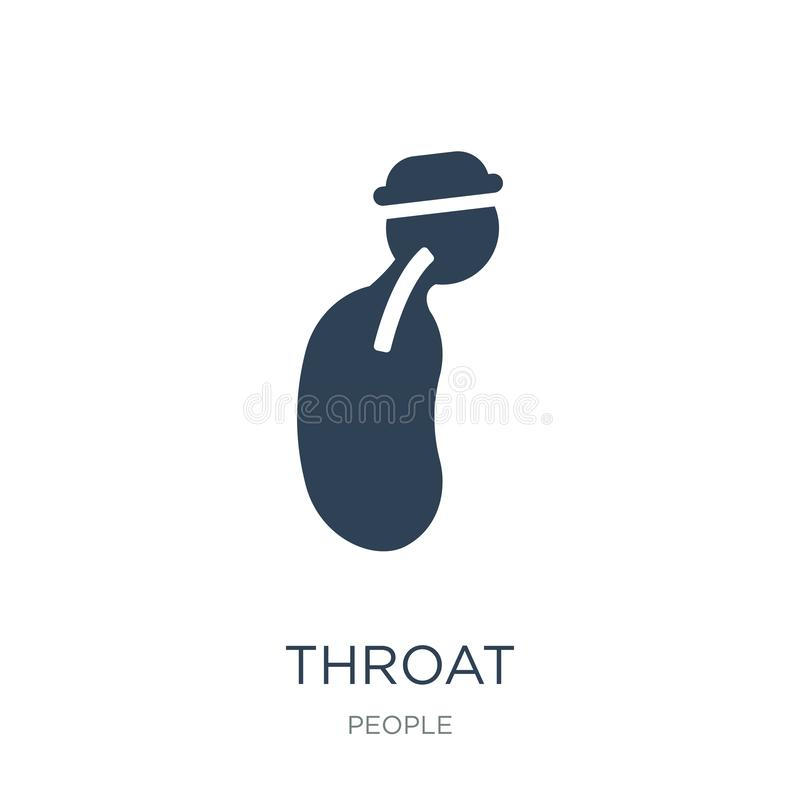 Throat icon in trendy design style. throat icon isolated on white background. throat vector icon simple and modern flat symbol for. Web site, mobile, logo, app vector illustration
