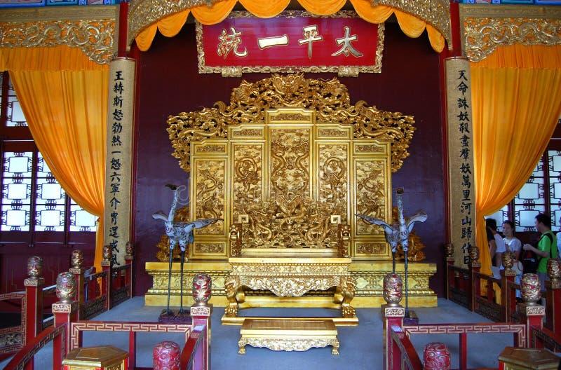 Thron des himmlischen Königreiches, Nanjing stockbilder