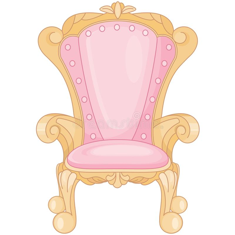 Thron Prinzessin-Ballroom Royal Pink lizenzfreie abbildung