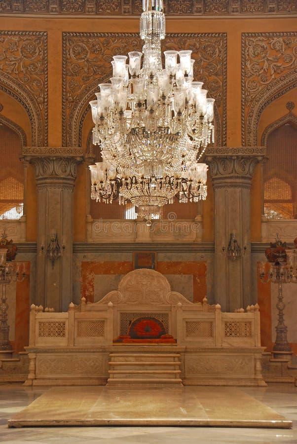 Thron Seat bei Khilwat Mubarak von Chowmahalla-Palast stockfotografie