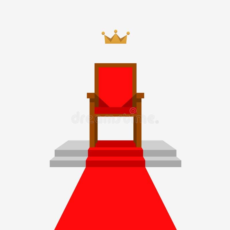 Thron und Krone Auch im corel abgehobenen Betrag stock abbildung