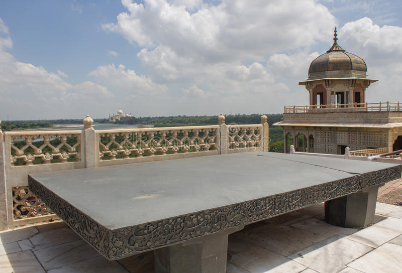 Thron von Jahangir - Agra-Fort lizenzfreies stockfoto