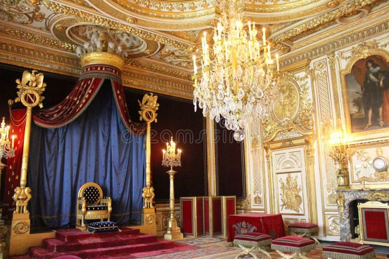 Thron von Napoleon, Fontainebleau, Frankreich lizenzfreie stockfotografie