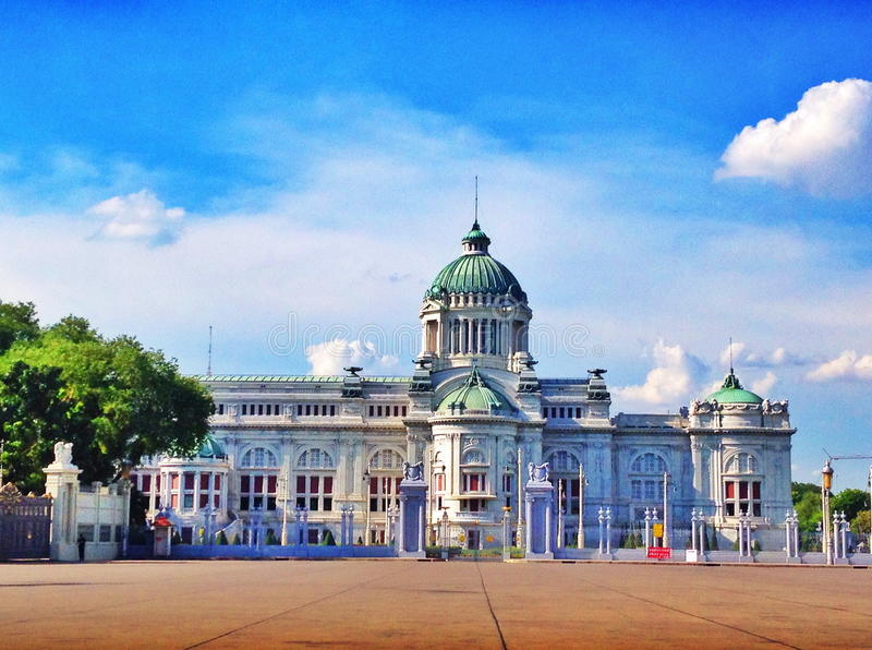 Throne hall in thailand royalty free stock image