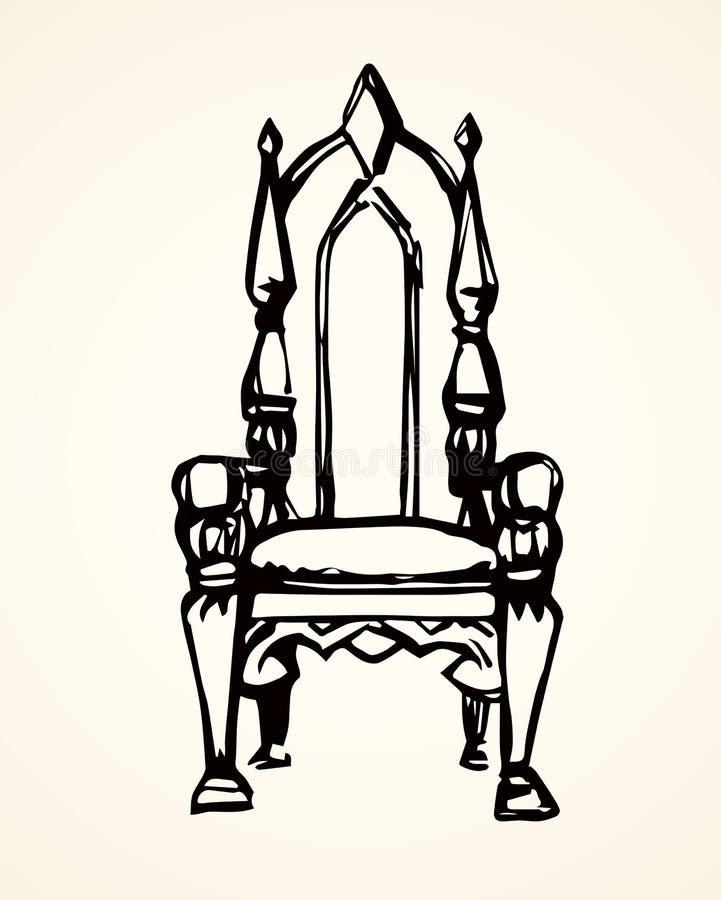 throne Illustrazione di vettore illustrazione di stock