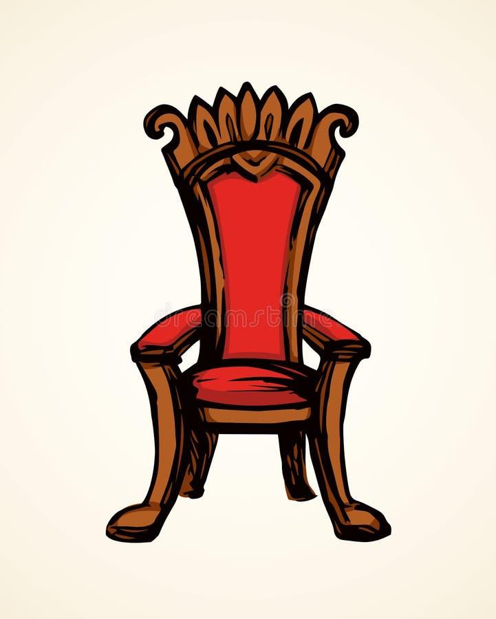 throne Illustrazione di vettore royalty illustrazione gratis