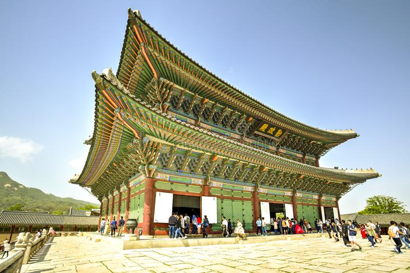 Gyeongbok Palace, Seoul, Korea royalty free stock image