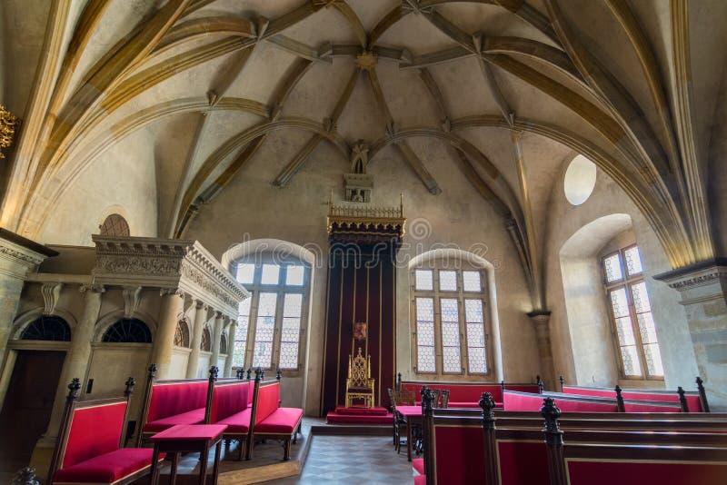 Throne room in Prague royalty free stock photo