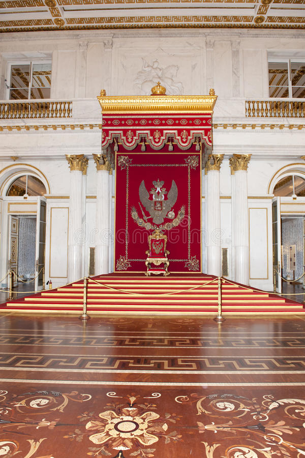 Throne of Russian Tsar St. Petersburg, Russia royalty free stock photos