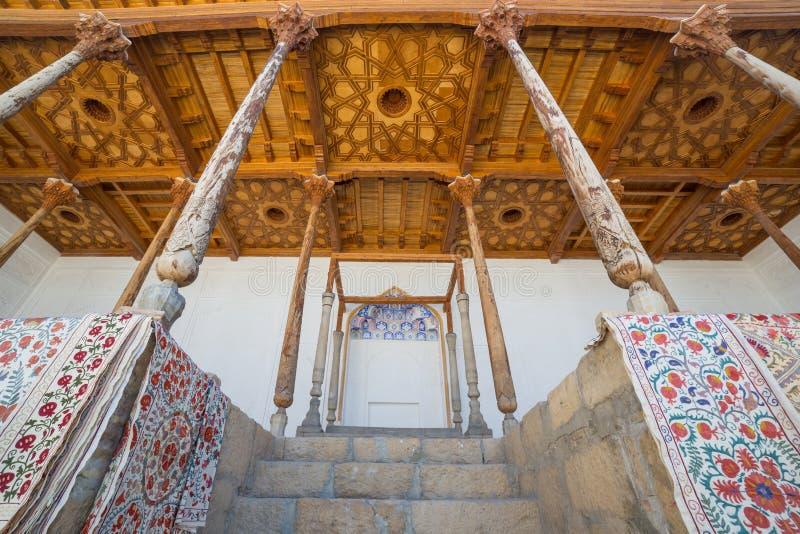 Thronhalle in der Archefestung von Bukhara, Usbekistan stockbilder
