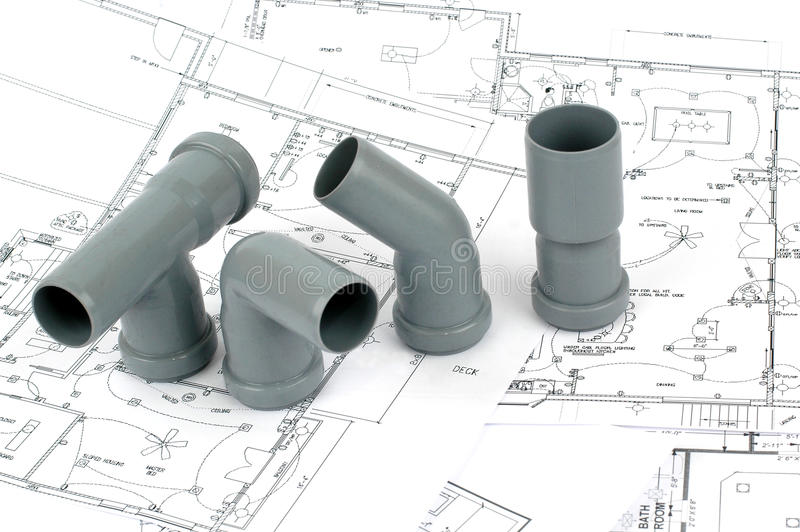 Download Throom Renovation, Pvc Fittings For Drainage Stock Photo - Image: 17364030