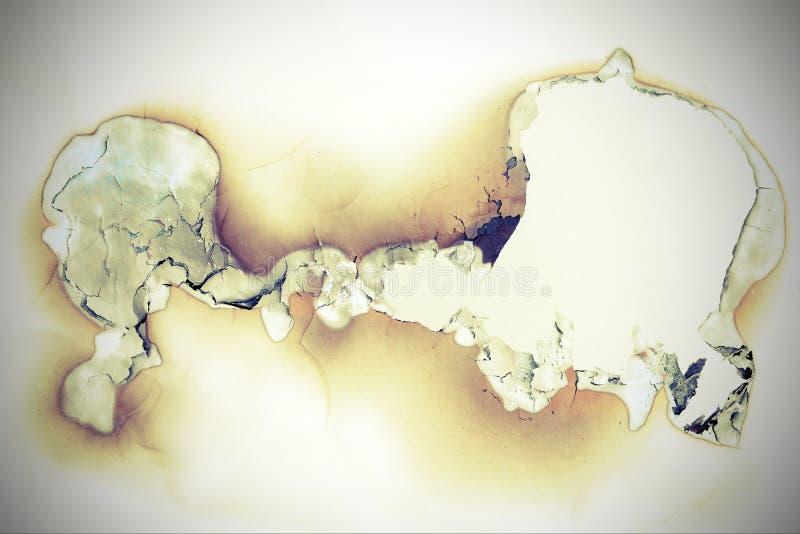 Throughhole quemado en papel fotos de archivo libres de regalías