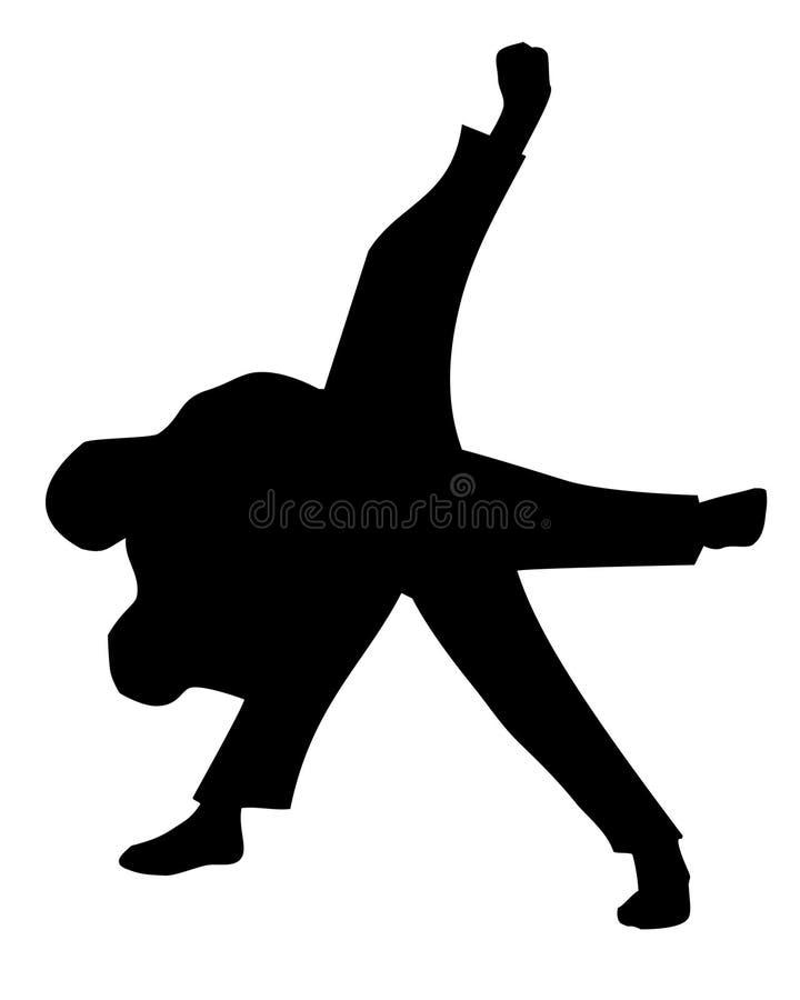 Throw de judo ilustração do vetor