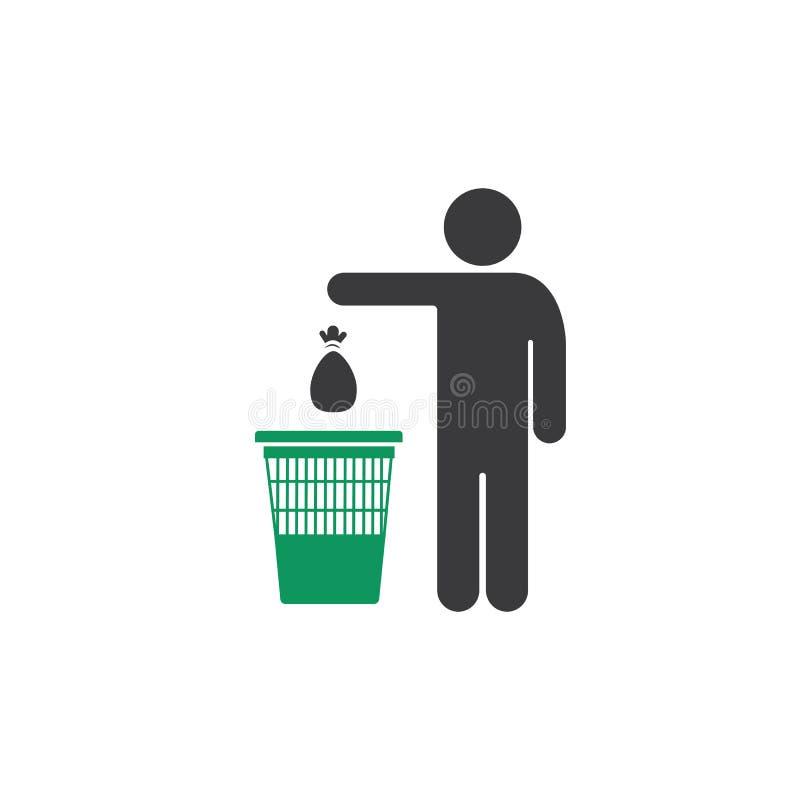 Free Throw Garbage In The Trash Stock Photos - 153430533