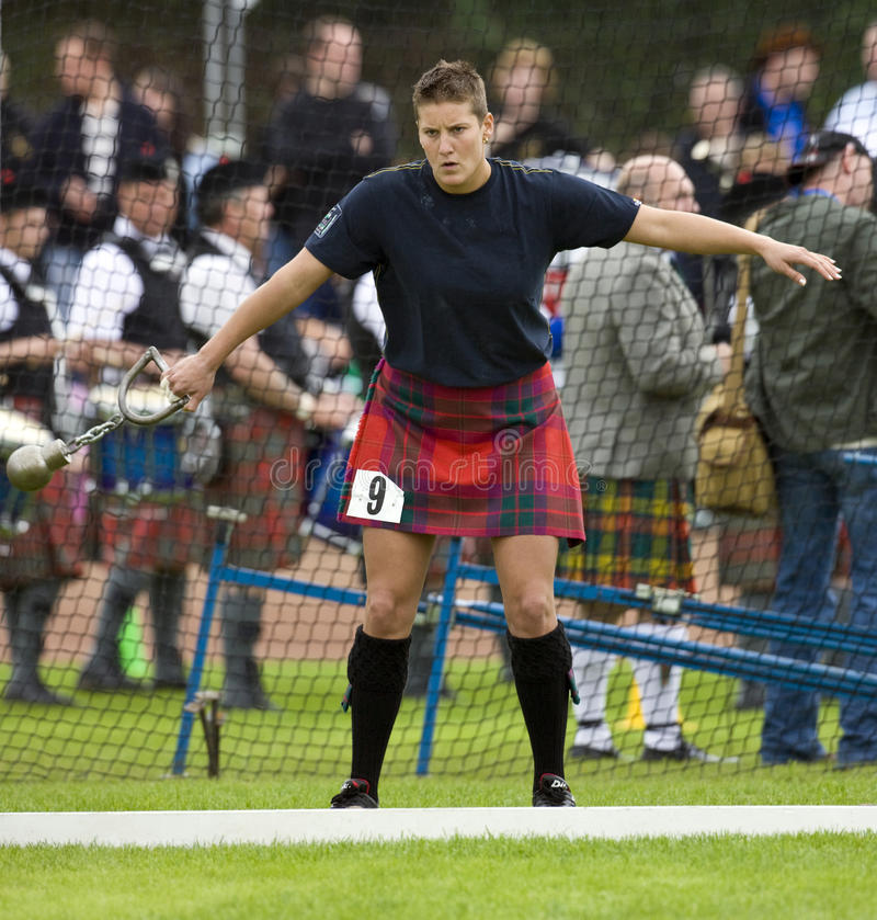 'Throw the Hammer' - Highland Games - Scotland royalty free stock image