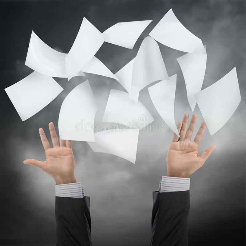 Download Throw paper stock illustration. Illustration of white - 28804262