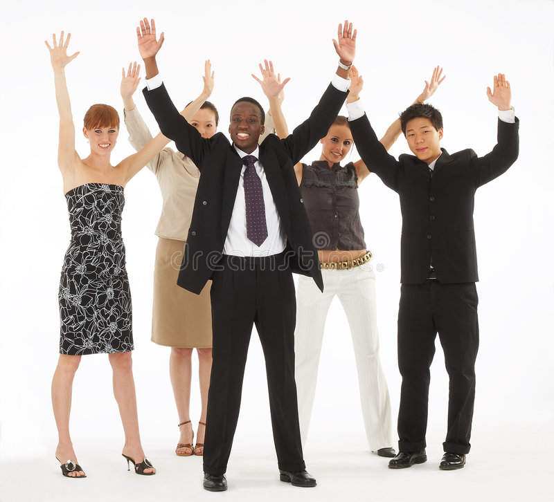 Throw your hands in the air royalty free stock photo
