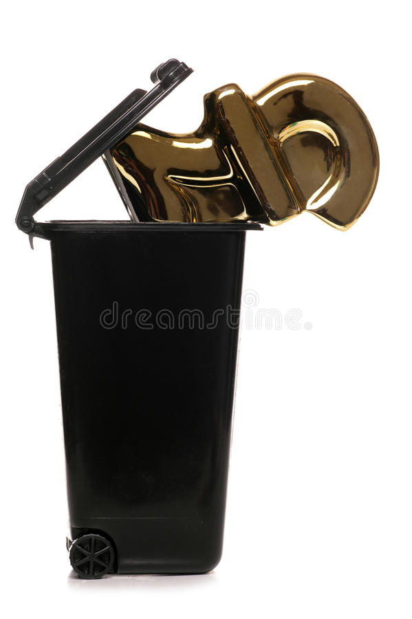 Throwing away money royalty free stock photography
