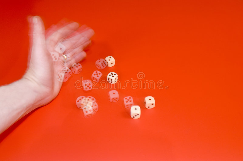 Throwing the dice royalty free stock photos