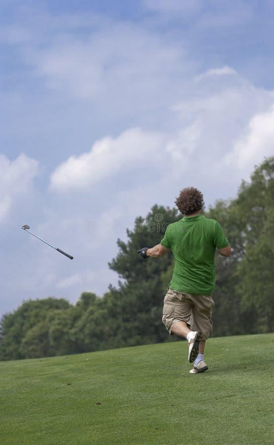 Throwing golf club royalty free stock photos