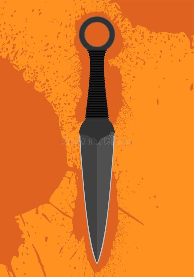 Throwing knife stock illustration