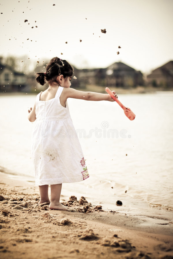 Throwing Sands Stock Photography