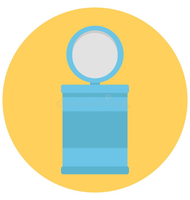 Throwing Trash Color Isolated Vector Icon That can be easily edit or modified. stock illustration