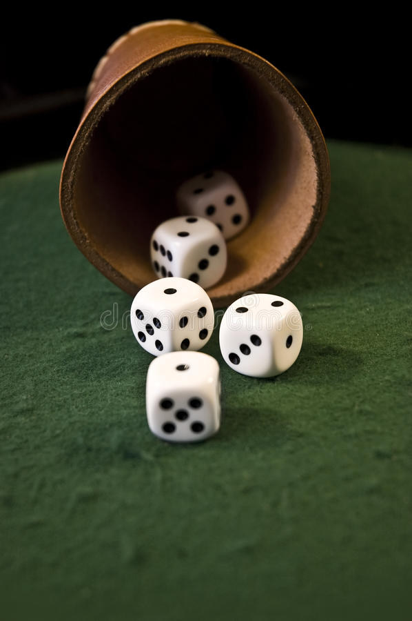 Download Thrown dices stock photo. Image of number, dices, black - 9758022