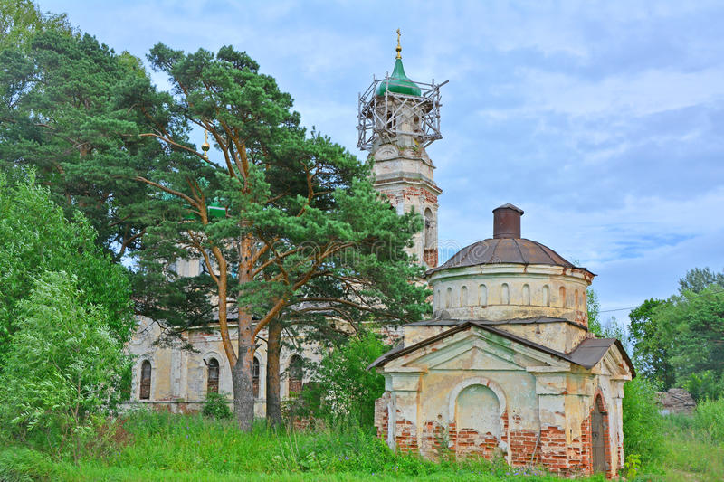 The thrown invalid church in Torzhok city royalty free stock image
