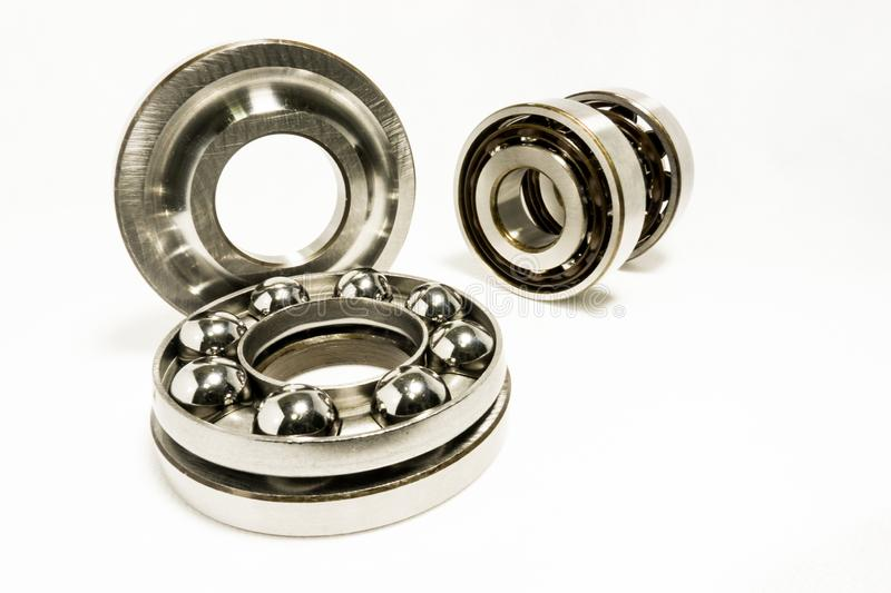Thrust Ball Bearings. Isolated on white background royalty free stock photography