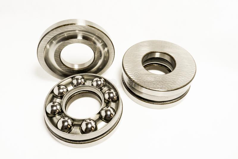 Thrust Ball Bearings. Isolated on white background royalty free stock photos