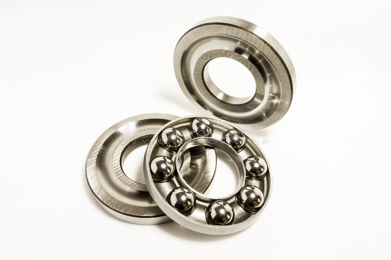 Thrust Ball Bearings. Isolated on white background royalty free stock images